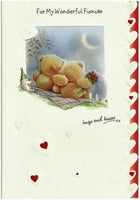 Valentine Card - Fiancée - Hugs and Kisses