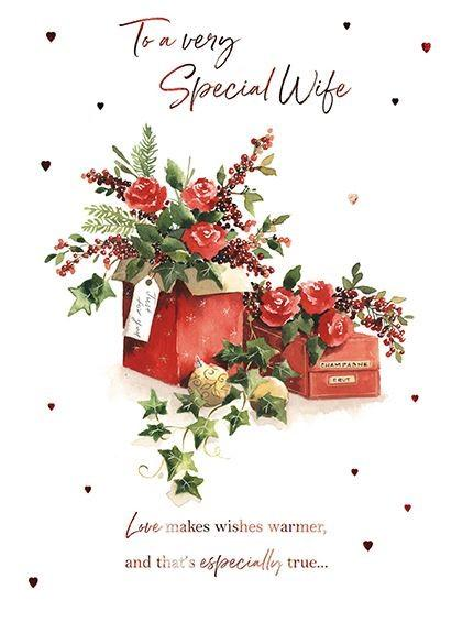 Christmas Card - Wife - Flowers & Gifts