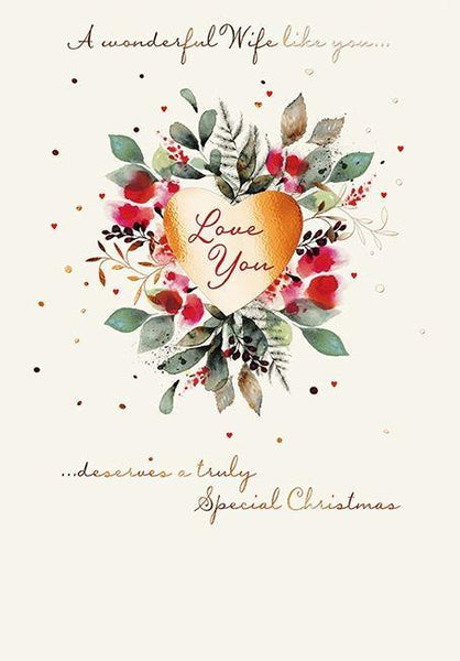 Christmas Card - Wife - Love You