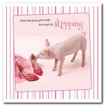 Birthday Card - Pig With Red Shoes