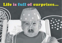 Humour Card - Life is full of surprises... (Spaghetti Hat)