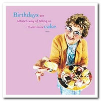 Humour Card - Cake Lady