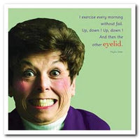 Humour Card - Eyelid Exercise