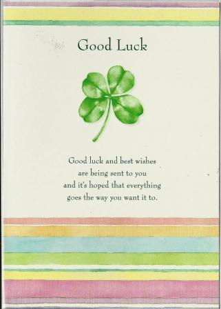 Good Luck Card - Good Luck 4 Leaf Clover