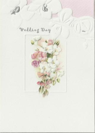 Wedding Card - Orchid Bouquet
