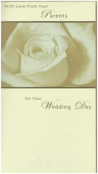 Wedding Card - From Your Parents White Rose