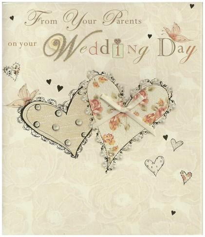 Wedding Card - From Your Parents Entwined Hearts