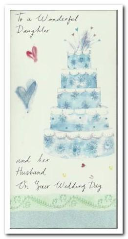 Wedding Card - Daughter & Her Husband 5 Tier Wedding Cake