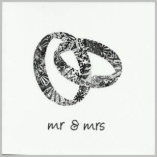 Wedding Card - Mr & Mrs Rings