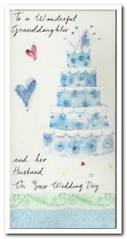Wedding Card - Granddaughter and her Husband 5 Tier Wedding Cake