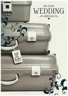 Wedding Card - Wedding Abroad Suitcases