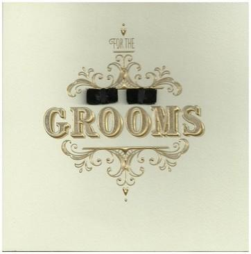 Wedding Card - Grooms Bow Tie