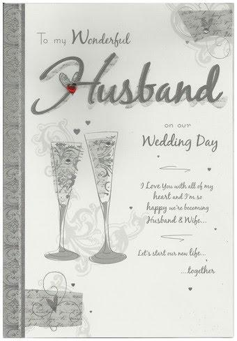 Wedding Card - Husband Champagne Flutes