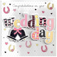 Wedding Card - Horseshoes and Text