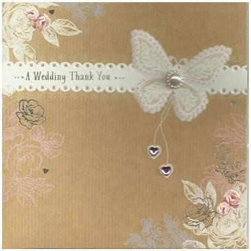 Wedding Thank You Card - Butterfly