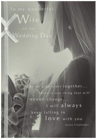 Wedding Card - Wife Veiled Bride
