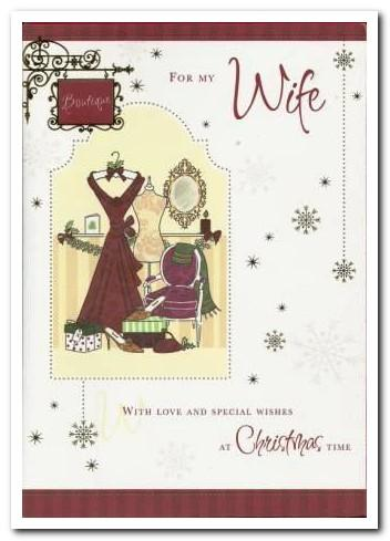 Christmas Card - Wife - Christmas Dress