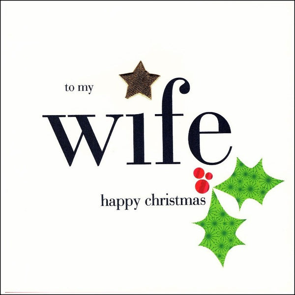 Christmas Card - Wife - Holly