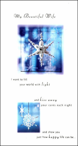 Christmas Card - Wife - Jewelled Icicle