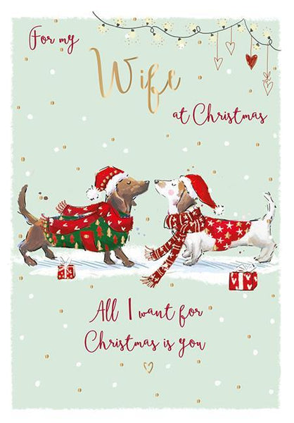 Christmas Card - Wife - Woof Woof!