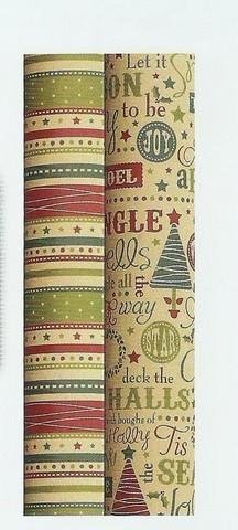 Christmas Gift Roll Wrap - Kraft - Recyclable