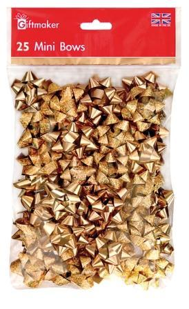 Bow Bag - 25 Mini Bows - Gold