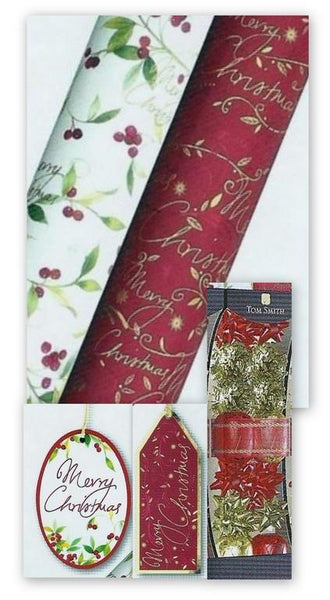 Christmas Gift Roll Wrap, Accessories & Gift Tags - Festive Foliage