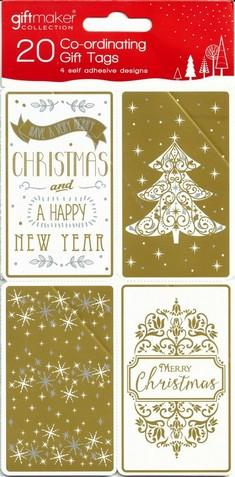 Christmas Gift Tags - Golden Classics (AF)