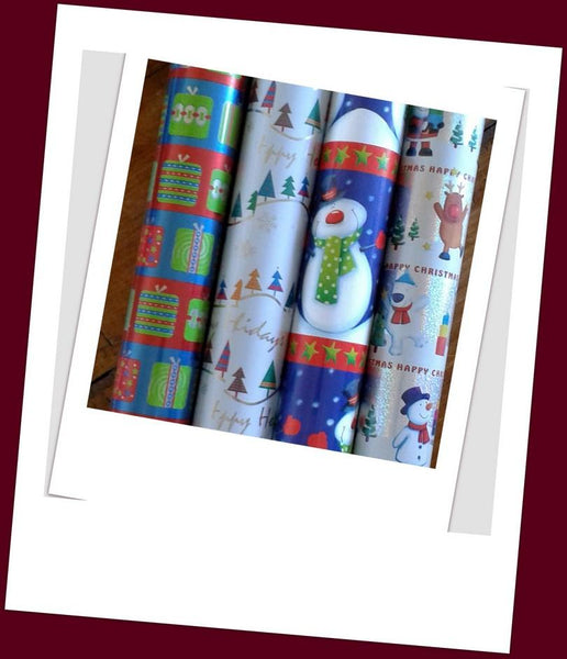 Christmas Gift Roll Wrap - Choice of 2 Designs C