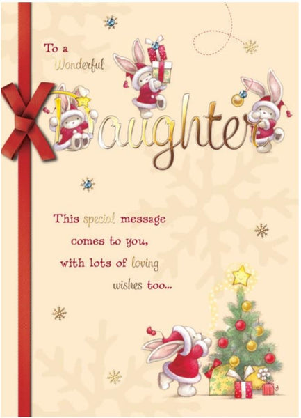Christmas Card - Daughter - Bebunni Christmas