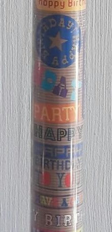 Gift Roll Wrap - Happy Birthday Text