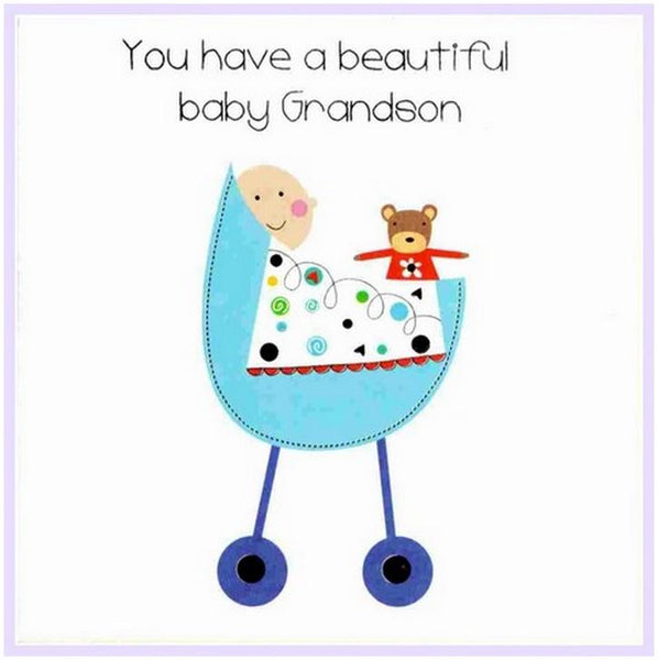 New Baby Card - Baby Grandson