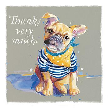 Thank You Card - Bonjour