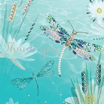 Thank You Card - Dragonflies