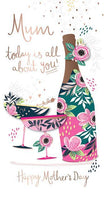 Mother's Day Card - Floral Bottle