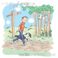 Father's Day Card - Dog Walk