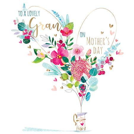 Mother's Day Card - Gran - Floral Jug