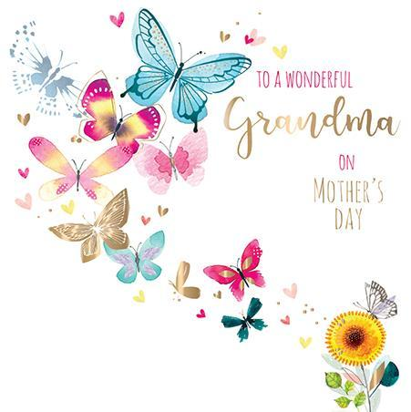 Mother's Day Card - Grandma - Flittering By