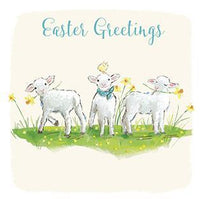 Easter Cards - Pack of 4 - Happy Springtime Lambs
