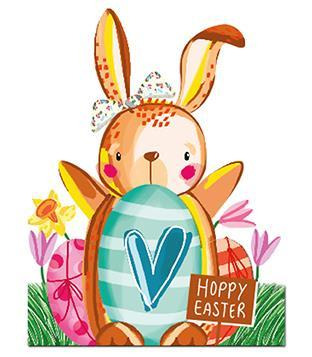 Easter Cards - Pack of 4 - Easter Bunnies