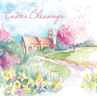 Easter Cards - Pack of 4 - Pathway To The Church