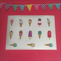 Ice-cream Stickers