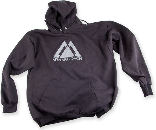 black hooded sweatshirt by MTN Approach