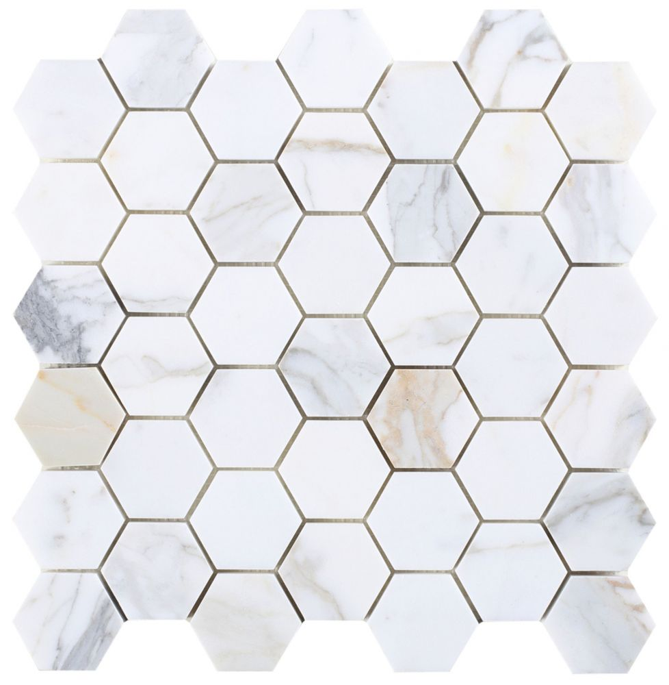 Calacatta Gold Hexagon 2""