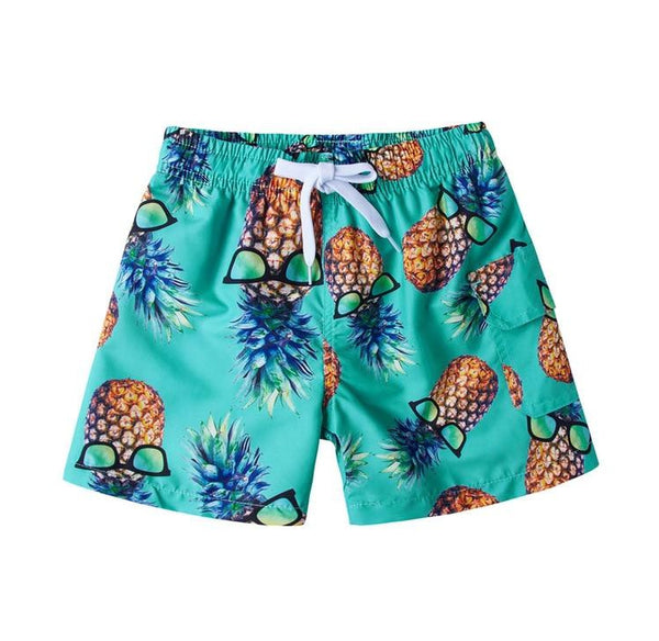 69d9f30eb8 Chilling Pineapple with Sunglasses Swim Trunks
