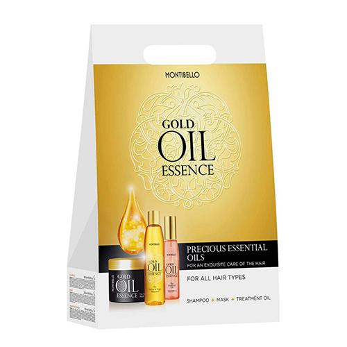 סט שמפו מסכה סרום MONTIBELLO Gold Oil