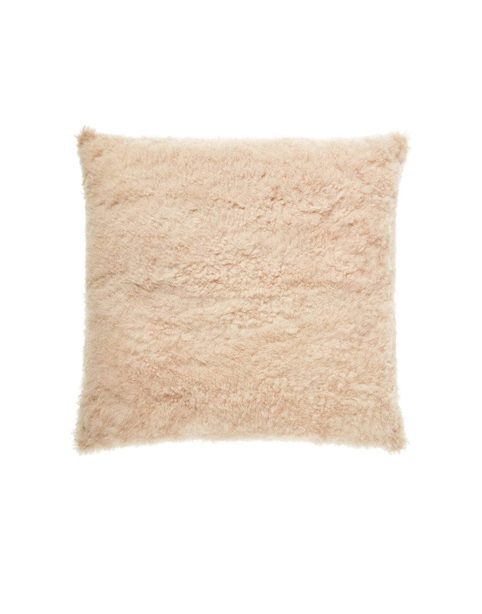 Cashmere shearling pillow medium