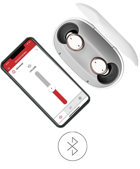 Signia Active Pro Hearing Aids Interacting with Signia App