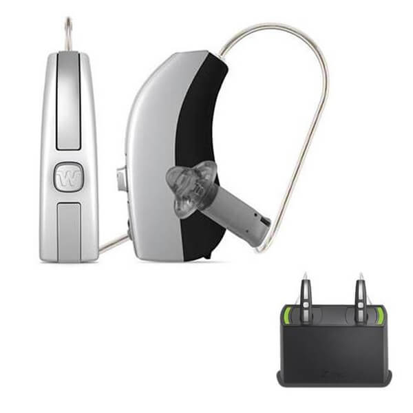 Widex Beyond 330 Hearing Aids (iPhone Compatible) + Rechargeable Bundle - Pair