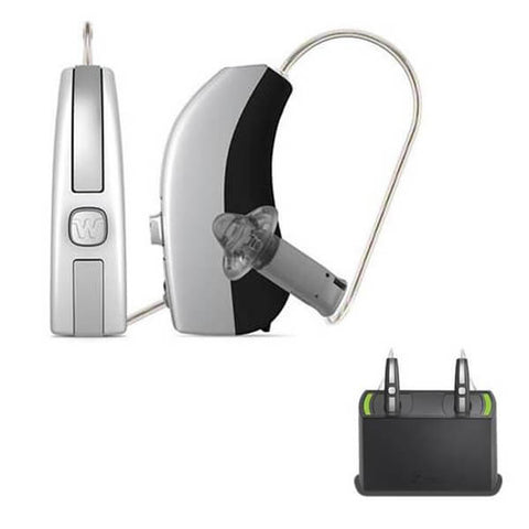 Widex Beyond 220 Hearing Aids (iPhone Compatible) + Rechargeable Bundle - Pair
